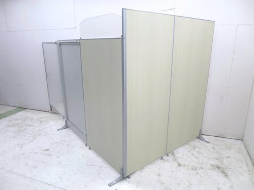トーカイスクリーン E-placeシリーズ 4連自立パーテーション W900x3・W700xD400xH1870mm 中古品 2