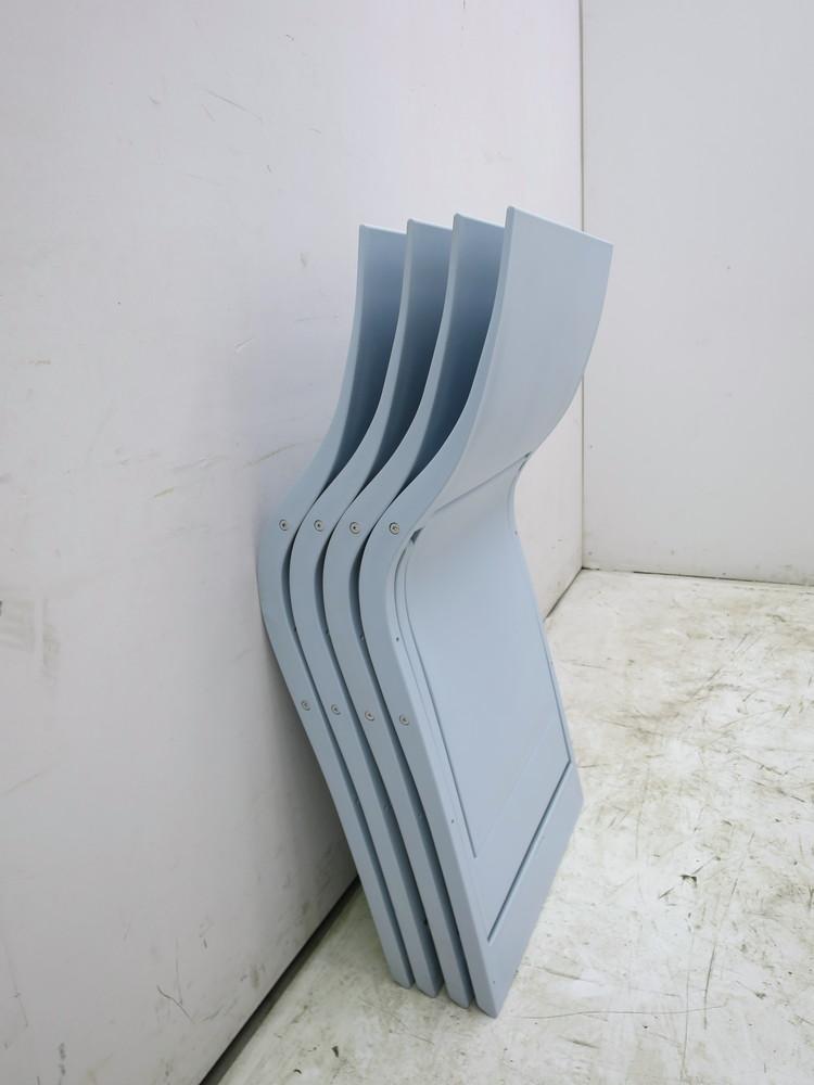 WAVES折畳みチェア4脚セット W480xD490xH800mm 中古品 4