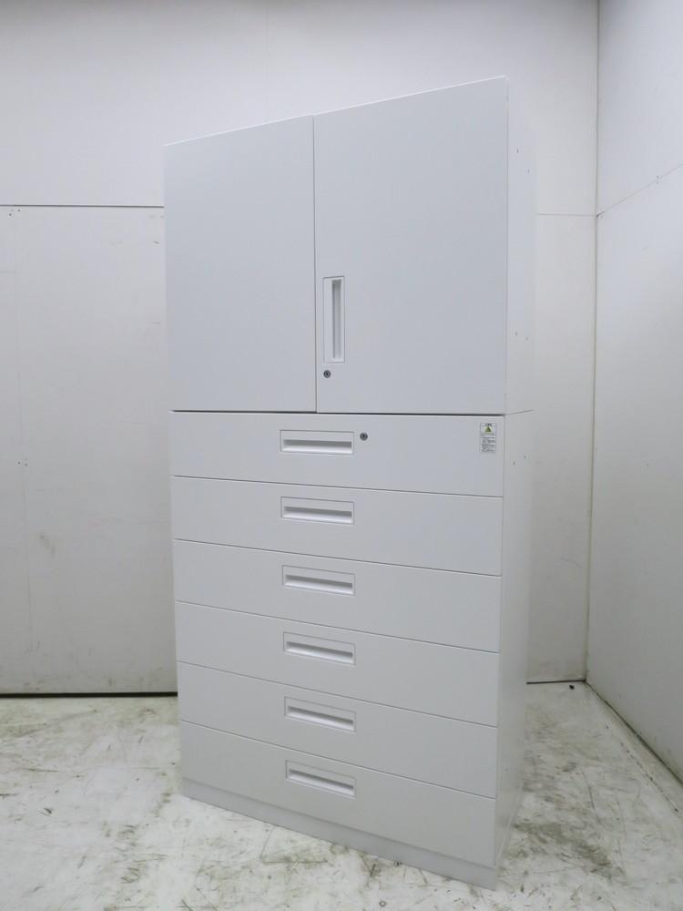 コクヨ エディアシリーズ 両開きラテラル上下書庫 BWU-L6A59S/BWU-SU39S W900xD400xH1812mm アウトレット品