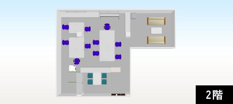 【追加納品】事例3 事務所+研修室(2フロア分) 4