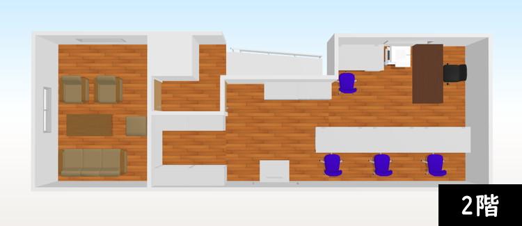 【追加納品】事例4 事務所+収納室(2フロア分) 5