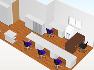 事例4 移転に伴い事務所と収納室に什器を追加
