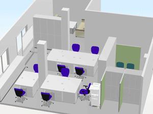 事例3 移転に伴い事務所と研修室に什器を追加