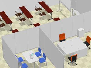 事例2 新規でオフィス家具一式を納品