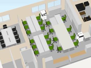 事例5 改装に伴いオフィス家具一式を追加