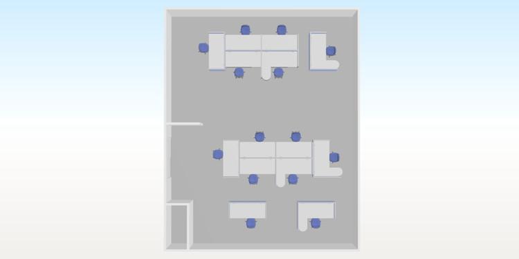 事例6 改装に伴いソーシャルディスタンスを考慮したレイアウト導入 1